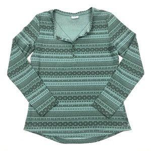 Columbia Hood Mountain Lodge Jacquard Henley Shirt